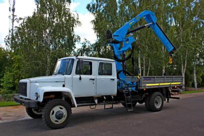 Бортовой ГАЗ 33086 с КМУ ИНМАН ИМ 95