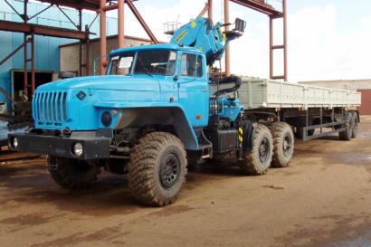 Седельный тягач УРАЛ 4320 с КМУ ИНМАН ИМ 150